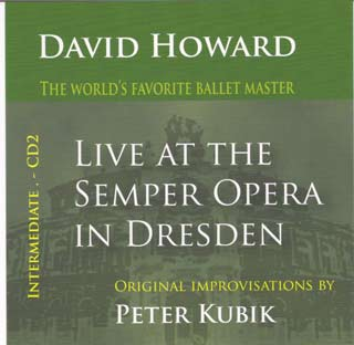 David Howard - Live at the Semper Opera in Dresden CD  Intermediate by Peter Kubik