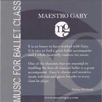 Music for Ballet Class - Maestro Gary - CD by Maestro Gary Ballet Accompanist