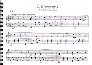 Warm-Up Page 1 - Marina Surgan Live Sheet Music Book