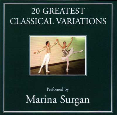 20 Greatest Classical Variations - CD for ballet class by Marina Surgan