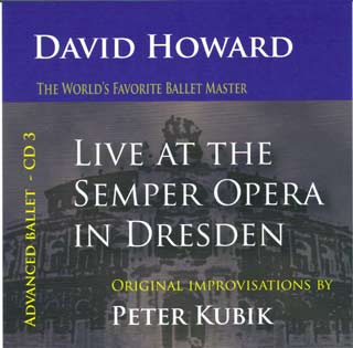 David Howard - Live at the Semper Opera in Dresden - CD 3 Advanced - CD by Peter Kubik